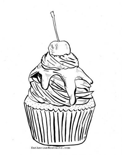 2020 01 22 cupcake BW