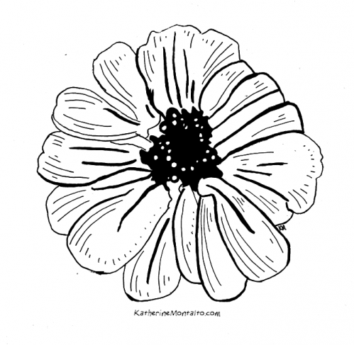 2020 04 21 flowers BW