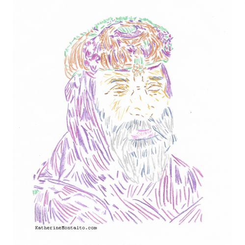 2021 01 color pencil portrait 01